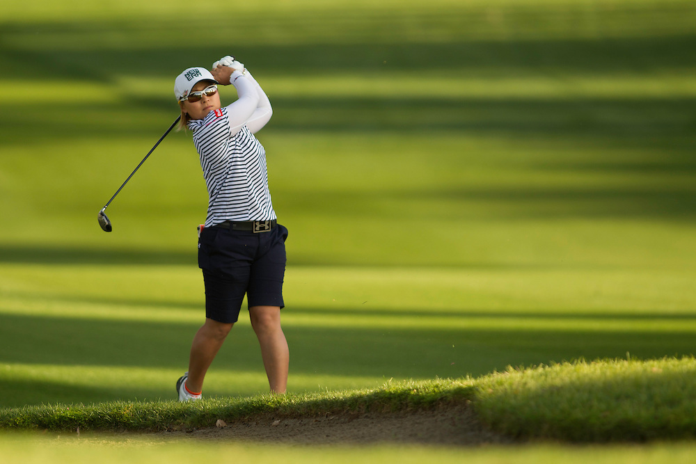 RANCHO MIRAGE, CA - MARCH 29: Yukari Baba of Japan plays a shot during the first round of the 2012 Kraft Nabisco Championship at the Dinah Shore Course at Mission Hills Country Club in Rancho Mirage, California on March 29, 2012. (Photograph ©2012 Darren Carroll) *** Local Caption *** Yukari Baba