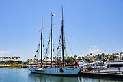 3-Mast Sailboat at Rainbow Harbor in Long Beach