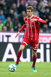 31.03.2018, Allianz Arena, Muenchen, GER, 1. FBL, FC Bayern Muenchen vs Borussia Dortmund, 28. Runde, im Bild Thomas Mueller (FC Bayern Muenchen #25) // during the German Bundesliga 28th round match between FC Bayern Munich and Borussia Dortmund at the Allianz Arena in Muenchen, Germany on 2018/03/31. EXPA Pictures © 2018, PhotoCredit: EXPA/ Eibner-Pressefoto/ Harry Langer<br /> <br /> *****ATTENTION - OUT of GER*****