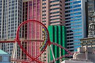 "The ""Big Apple Coaster"" at New York New York."
