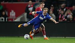 Bristol City's Joe Bryan and Birmingham City's Maikel Kieftenbeld