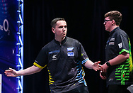 Leighton Bennett during the Youth Final st The BDO World Professional Championships at the O2 Arena, London, United Kingdom on 11 January 2020.