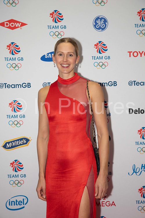 British rower Victoria Thornley during Team GB's annual ball at Old Billingsgate on the 21st November 2019 in London in the United Kingdom.