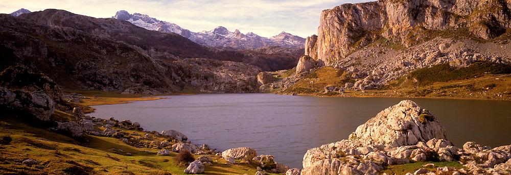 SPAIN, NORTH, ASTURIAS Covadongain the Picos de Europa