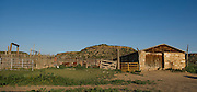 Cattle pens and a small barn at the Dunlop Ranch is southeastern Colorado.