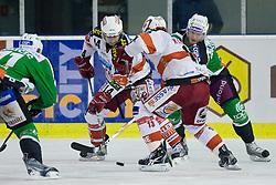 Johannes Reichel (EC KAC, #14) during ice-hockey match between HDD Tilia Olimpija and EC KAC in 12th Round of EBEL league, on October 17, 2010 at Hala Tivoli, Ljubljana, Slovenia. (Photo By Matic Klansek Velej / Sportida.com)