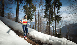 23.03.2013, Planica, Kranjska Gora, SLO, FIS Ski Sprung Weltcup, Skifliegen, Team, 1. Wertungsdurchgang, im Bild  Wolfgang Loitzl (AUT) // Wolfgang Loitzl of Austria before his 1st jump of the FIS Skijumping Worldcup Team Flying Hill, Planica, Kranjska Gora, Slovenia on 2013/03/23. EXPA Pictures © 2012, PhotoCredit: EXPA/ Juergen Feichter