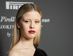 Mia Goth attends the presentation of the Pirelli 2020 Calendar Looking For Juliet at Teatro Filarmonico on December 3, 2019 in Verona, Italy. Photo by Marco Piovanotto/ABACAPRESS.COM
