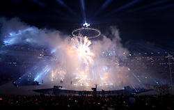 Firework display during the Opening Ceremony of the PyeongChang 2018 Winter Olympic Games at the PyeongChang Olympic Stadium in South Korea.