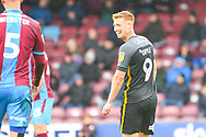 Eoin Doyle of Bradford City (9) all smiles during the EFL Sky Bet League 1 match between Scunthorpe United and Bradford City at Glanford Park, Scunthorpe, England on 27 April 2019.