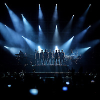 MINNEAPOLIS, MN - JULY 15:  (L-R) Howie Dorough, A.J. McLean, Donnie Wahlberg, Jonathan Knight, Jordan Knight, Danny Wood, Brian Littrell, Joey McIntyre and Nick Carter of NKOTBSB perform at Target Center in Minneapolis, Minnesota on July 15, 2011. (Photo by Adam Bettcher/Getty Images) *** Local Caption *** Howie Dorough, A.J. McLean, Donnie Wahlberg, Jonathan Knight, Jordan Knight, Danny Wood, Brian Littrell, Joey McIntyre, Nick Carter