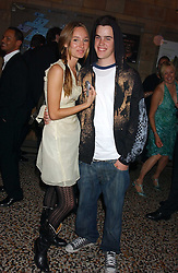 RUBY STEWART and GARRETT BARNES at the opening party for Diamonds - a new exhibition at The Natural History Museum, London in association with De Beers held on 6th July 2005.<br />