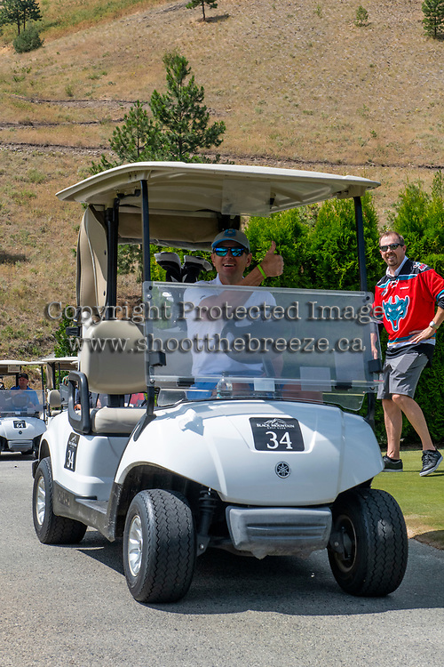 KELOWNA, CANADA - JULY 21: Broadcaster Reagan Bartell at the Kelowna Rockets Alumni golf tournament at Black Mountain Golf Club in Kelowna, British Columbia, Canada.  (Photo by Marissa Baecker/Shoot the Breeze)  *** Local Caption ***