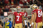San Francisco 49ers quarterback Colin Kaepernick (7) plays in the fourth quarter against the Los Angeles Rams at Levi's Stadium in Santa Clara, Calif., on September 12, 2016. (Stan Olszewski/Special to S.F. Examiner)