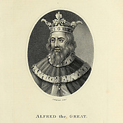 Alfred the Great (848/9 – 26 October 899) was king of the West Saxons from 871 to c. 886 and king of the Anglo-Saxons from c. 886 to 899. After ascending the throne, Alfred spent several years fighting Viking invasions. He won a decisive victory in the Battle of Edington in 878 and made an agreement with the Vikings, creating what was known as the Danelaw in the North of England. Alfred also oversaw the conversion of Viking leader Guthrum to Christianity. He defended his kingdom against the Viking attempt at conquest, becoming the dominant ruler in England Copperplate engraving From the Encyclopaedia Londinensis or, Universal dictionary of arts, sciences, and literature; Volume I;  Edited by Wilkes, John. Published in London in 1810