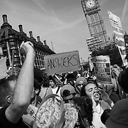 The Day of Rage protest organised by Movement for Justice  went from Shepherd's Bush to Downing Street and Parliament Square June 21st 2017, London, United Kingdom. Hundreds marched protesting against the Government's respond to the Grenfell Tower disaster. The mood was angry but peacefull and ended on Parliament Square green after police made people get of the streets and let traffic re-assume.