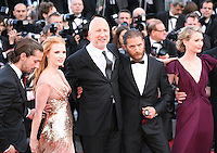 Shia Labeouf, Jessica Chastain, John Hillcoat, Tom Hardy, Mia Wasikowska attend the gala screening of Lawless at the 65th Cannes Film Festival. The screenplay for the film Lawless was written by Nick Cave and Directed by John Hillcoat. Saturday 19th May 2012 in Cannes Film Festival, France.