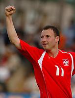 Fotball<br /> VM-kvalifisering<br /> Polen v Aserbaijan / Azerbaijan<br /> Foto: Wrofoto/Digitalsport<br /> NORWAY ONLY<br /> <br /> Tomasz Frankowski jubler for scoring til Polen