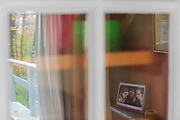 Abstract reflections on interior house windows, October, vacation house, Cheshire County, New Hampshire, USA