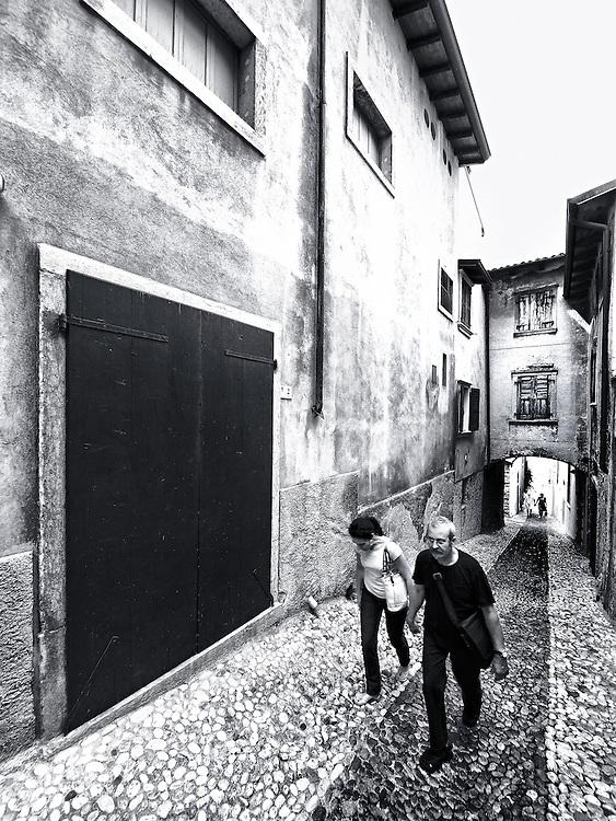 Italy - Malcesine - People on street