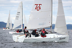 The Silvers Marine Scottish Series 2014, organised by the  Clyde Cruising Club,  celebrates it's 40th anniversary.<br /> Day 1 GBR7061N, Rammie, M Fleming/D Smith, Aberdeen&Stonehaven YC, Hunter 707<br /> <br /> Racing on Loch Fyne from 23rd-26th May 2014<br /> <br /> Credit : Marc Turner / PFM