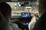 driving a car through a tunnel Tokyo Japan
