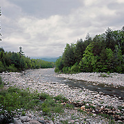The Peabody River drains the watershed of the Northern Presidentials in New Hampshire