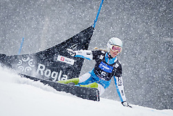 Marion Kreiner (AUT) competes during Qualification Run of Women's Parallel Giant Slalom at FIS Snowboard World Cup Rogla 2016, on January 23, 2016 in Course Jasa, Rogla, Slovenia. Photo by Ziga Zupan / Sportida