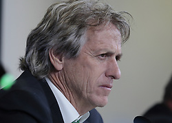 October 17, 2017 - Turin, Italy - Jorge Jesus during the Champions League press conference before the match between Juventus and Sporrting Clube de Portugal, in Turin, on October 17, 2017  (Credit Image: © Loris Roselli/NurPhoto via ZUMA Press)