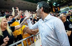Jurica Golemach, head coach of Sixt Primorska celebrates after winning during basketball match between KK Sixt Primorska and KK Hopsi Polzela in final of Spar Cup 2018/19, on February 17, 2019 in Arena Bonifika, Koper / Capodistria, Slovenia. KK Sixt Primorska became Slovenian Cup Champion 2019. Photo by Vid Ponikvar / Sportida