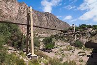 PUENTE DE LAS TERMAS DE CACHEUTA, LUJAN DE CUYO, PROVINCIA DE MENDOZA, ARGENTINA - (PHOTO © MARCO GUOLI - ALL RIGHTS RESERVED)
