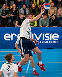 Wessel Anker #6 of Sliedrecht Sport in action in the second round between Sliedrecht Sport and Draisma Dynamo on February 29, 2020 in sports hall de Basis, Sliedrecht