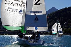 Ian Williams,Team GAC Pindar, beats Ben Ainslie, TEAMORIGIN in the round robin of the St Moritz Match Race 2010. World Match Racing Tour. St Moritz, Switzerland. 1st September 2010. Photo: Ian Roman/WMRT.