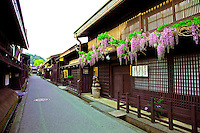 Sanmachi or Furui-machi stands on the east side of the Miyagawa River flowing through Takayama, where Edo period houses remain in traditional buildings usually occupied by sake breweries and merchants houses.  The district was designated an area of important traditional buildings by the Japanese Government and the movie set for many a Samurai movie.
