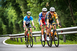 Matic Groselj (SLO) of Ljubljana Gusto Santic, Aljaz Jarc (SLO) of Adria Mobil during 1st Stage of 26th Tour of Slovenia 2019 cycling race between Ljubljana and Rogaska Slatina (171 km), on June 19, 2019 in  Slovenia. Photo by Peter Podobnik / Sportida