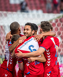 12-05-2018 NED: FC Utrecht - Heerenveen, Utrecht<br /> FC Utrecht win second match play off with 2-1 against Heerenveen and goes to the final play off / (L-R) Rico Strieder #6 of FC Utrecht score the 1-0, , Mark van der Maarel #2 of FC Utrecht, Sander van der Streek #22 of FC Utrecht, Giovanni Troupee #20 of FC Utrecht