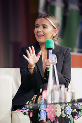 Glasgow-born fashion blogger Molly McFarlane spoke about her career to an audience of teenagers attending the Festival of Youth Enterprise at RBS's Gogarburn offices. Pic Terry Murden @edinburghelitemedia