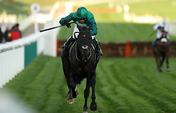 Calett Mad ridden by Daryl Jacob during day two of the Showcase at Cheltenham Racecourse