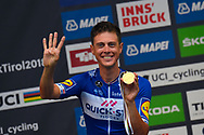 Podium winner Niki Terpstra (NED - QuickStep - Floors) during the 2018 UCI Road World Championships, Men's Team Time Trial cycling race on September 23, 2018 in Innsbruck, Austria - Photo Dario Belingheri / BettiniPhoto / ProSportsImages / DPPI