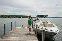 Tying up at the town docks in Wolfeboro, NH.    ©2106 Karen Bobotas Photographer