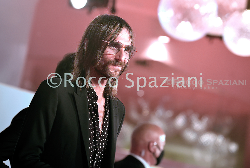 """VENICE, ITALY - SEPTEMBER 08: Francesco Bianconi walks the red carpet ahead of the movie """"Di Yi Lu Xiang"""" (Love After Love) at the 77th Venice Film Festival on September 08, 2020 in Venice, Italy. y.  <br /> (Photo by Rocco Spaziani)"""