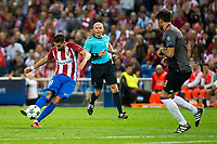 Atletico de Madrid's player Yannick Carrasco and Bayern Munich's player Javi Martinez during match of UEFA Champions League at Vicente Calderon Stadium in Madrid. September 28, Spain. 2016. (ALTERPHOTOS/BorjaB.Hojas)