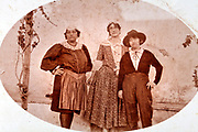 Western women dressed up in various costumes 1930s
