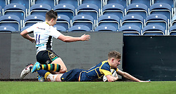 Alex Forrester (Hartpury College) of Worcester Warriors U18 scores a try - Mandatory by-line: Robbie Stephenson/JMP - 22/01/2017 - RUGBY - Sixways Stadium - Worcester, England - Worcester Warriors U18 v Northampton Saints U18 - Premiership Rugby U18 Academy League