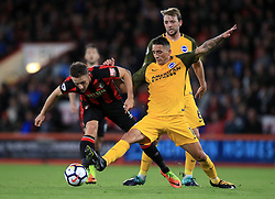 AFC Bournemouth's Marc Pugh (left) and Brighton & Hove Albion's Anthony Knockaert battle for the ball during the Premier League match at the Vitality Stadium, Bournemouth.