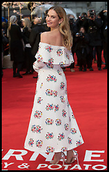 April 9, 2018 - London, London, United Kingdom - Image licensed to i-Images Picture Agency. 09/04/2018. London, United Kingdom. Lily James arriving at The Guernsey Literary and Potato Peel Pie Society premiere in London. (Credit Image: © Stephen Lock/i-Images via ZUMA Press)