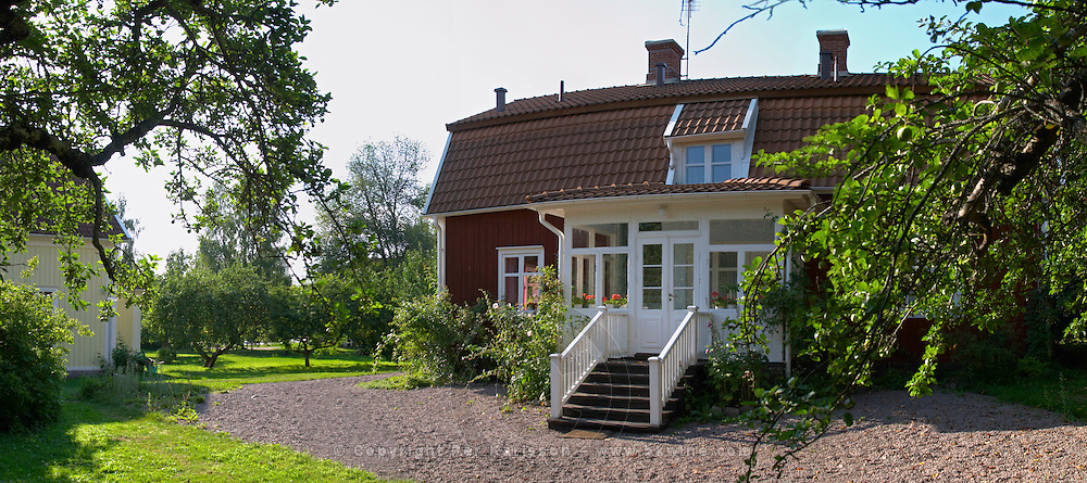 The birth place house of Astrid Lindgren where her father was a tenant farmer. Nas. Vimmerby town Smaland region. Sweden, Europe.