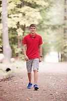 Connor Craig senior portrait session at Gunstock.  ©2016 Karen Bobotas Photographer