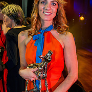 NLD/Utrecht/20181005 - L'OR Gouden Kalveren Gala 2018, Ilse Warringa wint het Gouden Kalf voor Beste Actrice Televisiedrama