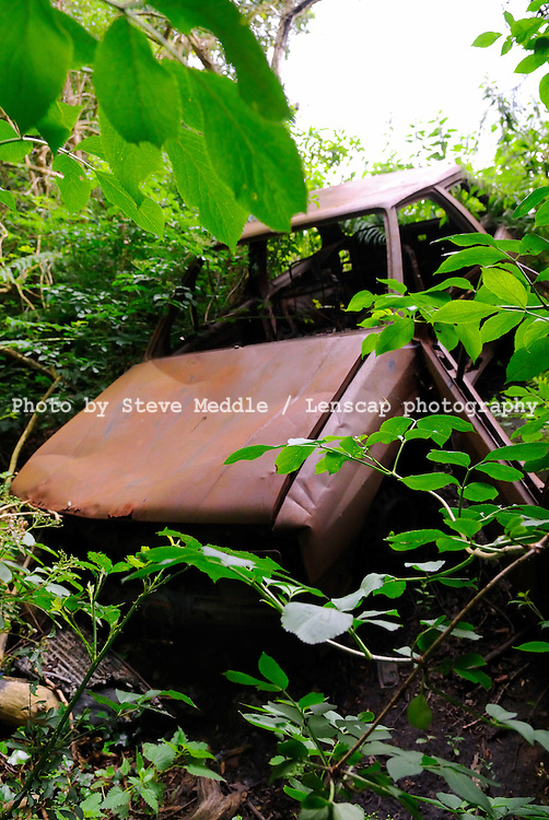 Abandoned and Burnt Out Car